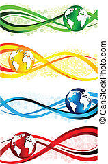 Vector set of colorful banners