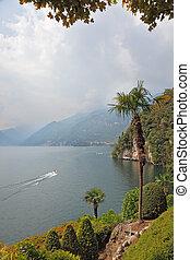 Lake Como in the haze