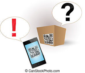 qr code on the product