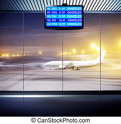 situation in airport - Tourist info signage in airport in...