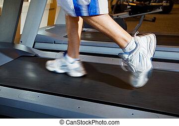 Executando, homem,  Treadmill