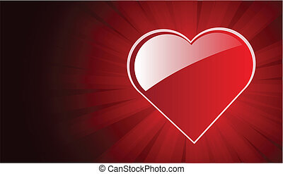 big red heart background
