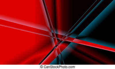 Rotating lines (rays) - Lines rotate on a red and black...