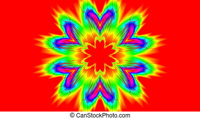 Rotating color flower (pattern)