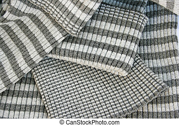 Knitwear - Striped gray knitwear as a background