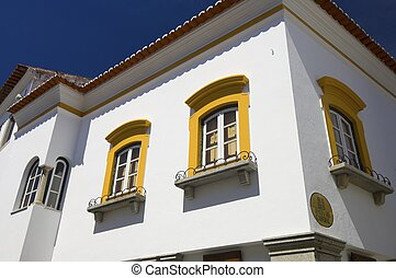 evora - typical facade in the city of Evora, Portugal