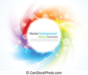 Abstract colorful background. Illustration with rays