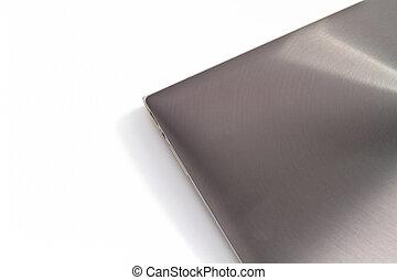 Silver Laptop Top View