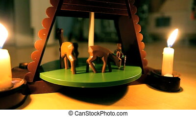 Carousel toy - mechanical toy