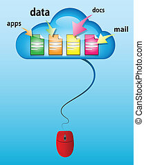 Cloud computing concept illustration - Cloud computing...