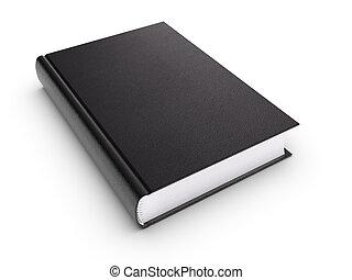 Black blank book