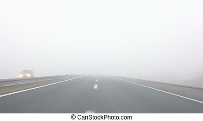 Fog ride - Driving through the fog