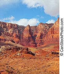 Scenic  red rock desert