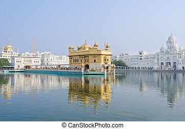 Golden temple, Amritsar, India - Golden TempleDarbar Sahib,...