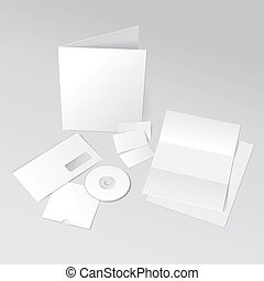 ID Template - Blank Letter, Envelope, Business cards, CD and...