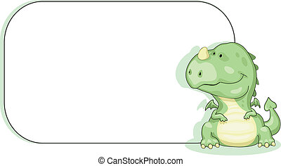 Dragon with copy space - Cartoon dragon with copy space...