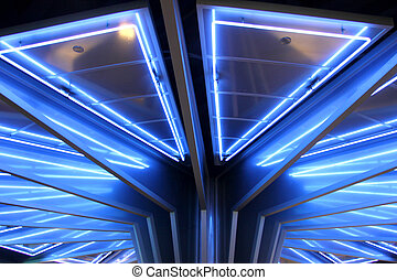 Modern roof with Neon light decoration