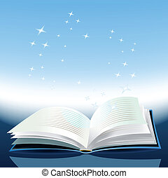 Magic Book - Illustration of a magic book with awesome...