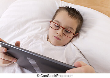 Before Goes to Sleep - My dad read news before goes to...