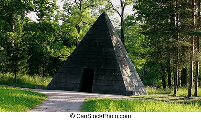 pyramid in the woods  near St. Petersburg