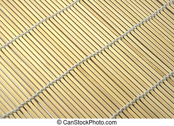 Yellow mat closeup background with diagonal lines