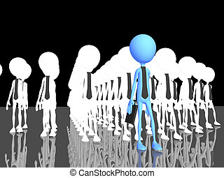 Human making the difference - a 3d image