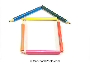 Build your own house - abstract metaphor