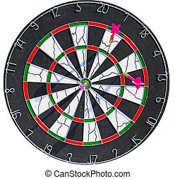Dartboard with 3 dart in it