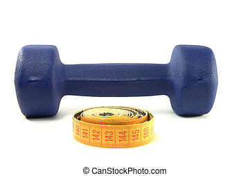 Dumbbell and sartorial meter as synbol of diet
