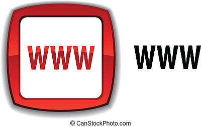 WWW  button.