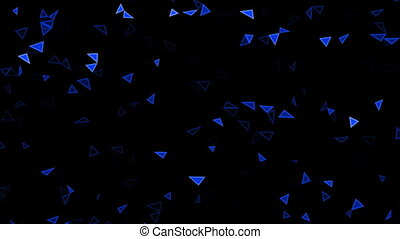 Rotating blue triangles splinters - Triangles splinters,...