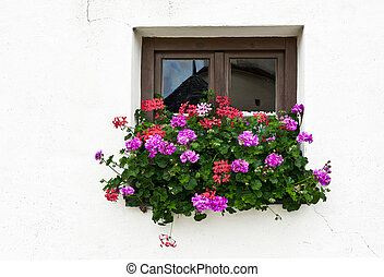 Bavarian Window - Typical Bavarian Window Decorated With...
