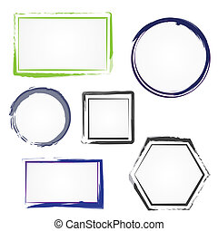 Set of painted frames