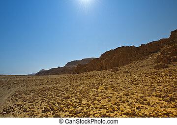 At Noon - Big Stones in Sand Hills of Samaria at Noon