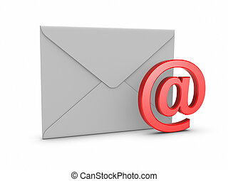 Mail with @ symbol.