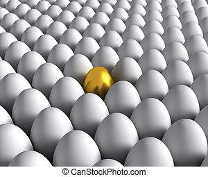 dorado, huevo
