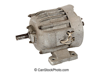 Old electric motor (isolated) - Old electric motor, isolated...