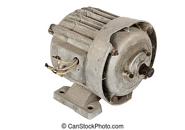 Old electric motor isolated - Old electric motor, isolated...