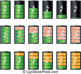 Battery illustration Concept-battery life