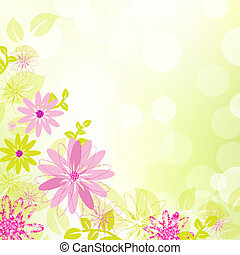 Abstract Flower Background With Leaf