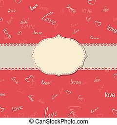 Vintage Love Greeting Card
