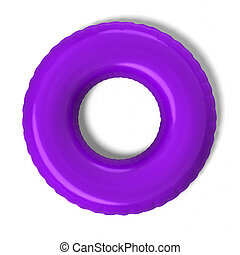 Inner Tube - 3d rendered inner tube on white background.
