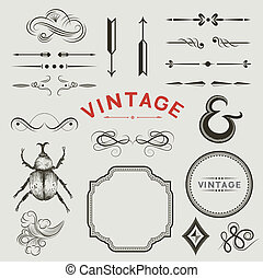 Vintage Vector Elements - A Collection of vintage, vector...