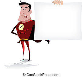 Super Hero Banner - Illustration of a cool cartoon super...