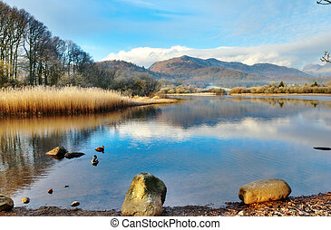 Wetherlam Mountain And Elter Water Lake - Picturesque...