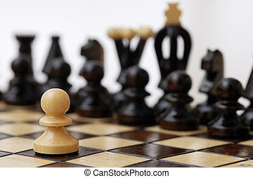 One Pawn Against Whole Opponent - One pawn standing up to a...