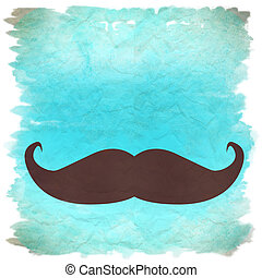 moustache retro background - blue moustache retro background