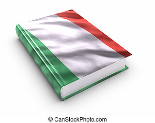 Book covered with Italian flag