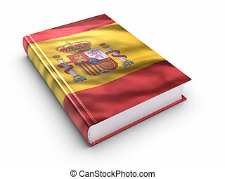 Book covered with Spanish flag