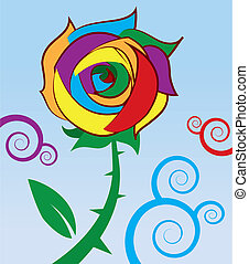 Rainbow Rose  - Rose with rainbow colored petals